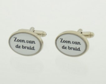 Unique cufflinks for the son of bride and/or groom. A unique gift for your wedding day/wedding