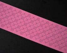 Pink Multi Style Lace Silicone Mold Sugar Craft Fondant Cake Decorating Baking Mat