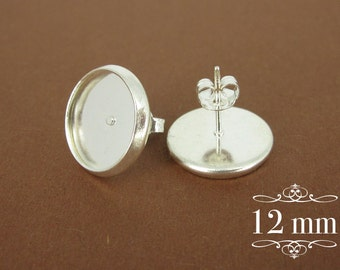10pcs silver tone studs replaced with 12 mm