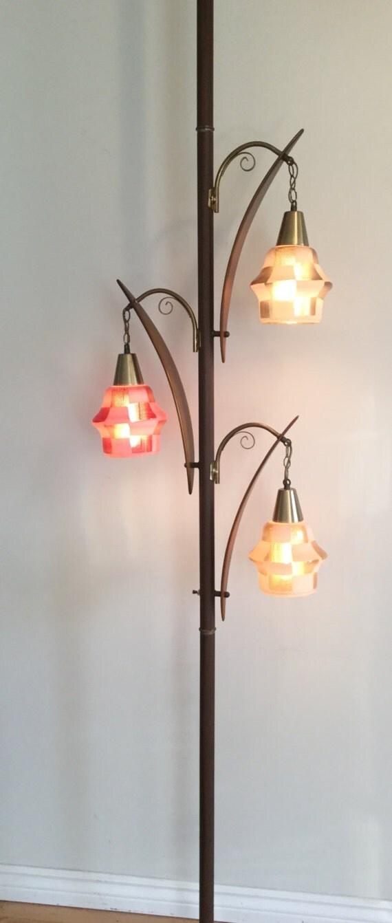 reserved mid century tri light pole lamp. Black Bedroom Furniture Sets. Home Design Ideas