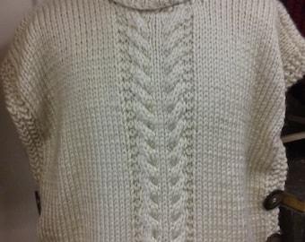 Knitting Pattern Side Button Poncho : Turtleneck poncho Etsy