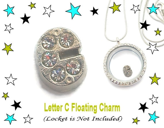 letter c floating charm floating locket memory by