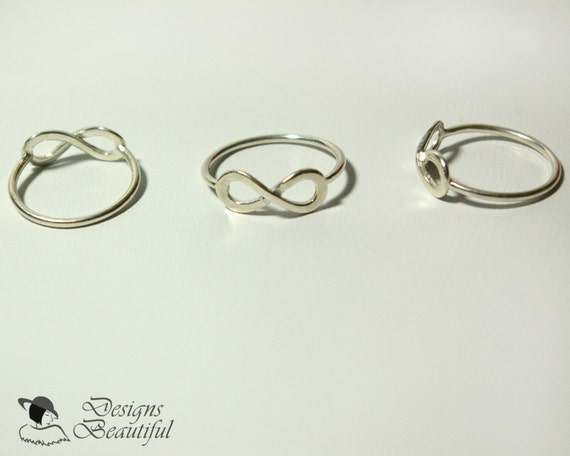 sterling silver infinity ring can be sized