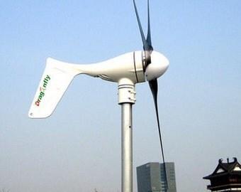 Off-grid Breeze Dragonfly 600W Wind turbine generator, build in MPPT controller!