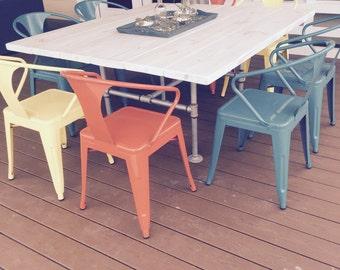 Custom Made Indoor/Outdoor Chic Industrial Table