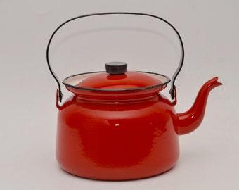 Finel enamelware teapot, Kaj Franck 1960s