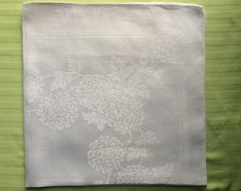 "White Damask Linen Blend Napkin 22"" x 22"""