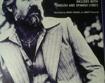 Kenny Rogers sheet music Lady, spanish and english