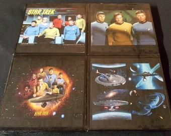 Star Trek Ceramic Tile Drink Coasters / Star Trek Drink Coaster Set