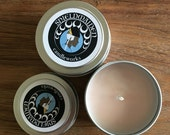 """Rose Sandalwood Cedar Scent Travel Candle Soy """"Blood of my Enemies"""" 4oz Soy Viking Candle Travel Tin Shieldmaiden Candleworks"""