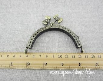 8.5cm Antique Bronze Bag Frame