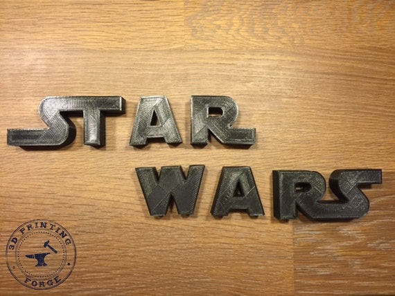 3d printed letters 3d printed wars logo letter sign for your wall office 20096 | il 570xN.1006817735 njxv
