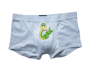 Funny snake panties, Snake boxer, Funny briefs, Personalized underwear, Mens lingerie, Sexy underwear for husband boyfriend fiance gift