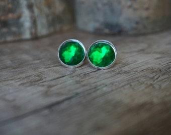 """Earrings """"Green Lightning"""""""