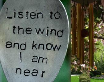 Wind Chime Custom LOSS Memorial wind chime gift after loss memorial garden or porch custom gift