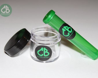 Cannabros Stash Jar Smell Proof Container Seal Tight