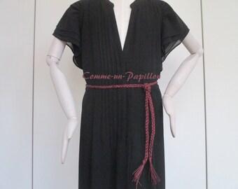 Bordeaux woven waxed cotton belt