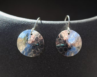 sterling silver earrings with texture