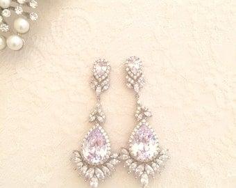 Elizabeth  crystal bridal earrings