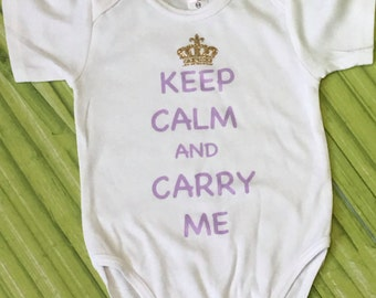 Baby Girl Keep Calm Bodysuit