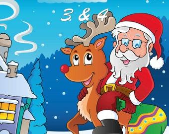 Weihnachten Malbuch 3 & 4