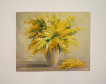 "Oil painting ""Mimosas"""