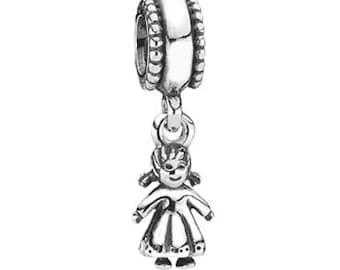 Pandora My Little Girl Dangle Sterling Silver Charm # 790860