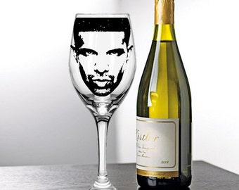 Drake, Painted Wine Glasses, Painted Wine Glass, Hand Painted Wine Glasses, Painted Glasses, White Wine, Red Wine, Stemless Glasses