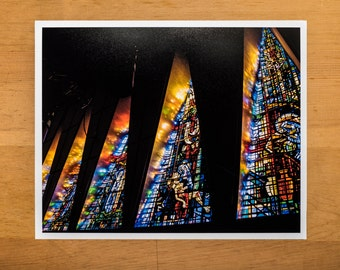 TLC-LBI Chapel Stained Glass Five Windows Print