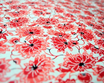 Katazome-shi handmade paper Red peonies