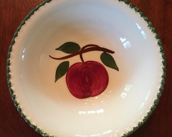 Vintage Blue Ridge Apple Fruit Bowl