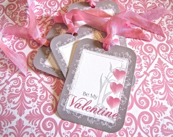 Valentine Tags-Be My Valentine-Set of 6