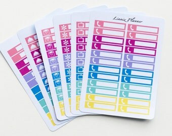 Little Things Icons 45 Options (24 matte planner stickers, fits perfect in Erin Condren Life Planner Vertical)