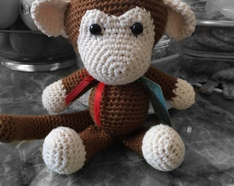 Monkey crochet doll