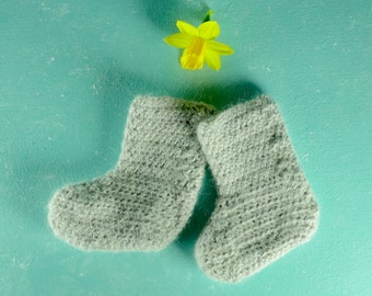 Bootie baby - baby slipper 100% Wool-wool