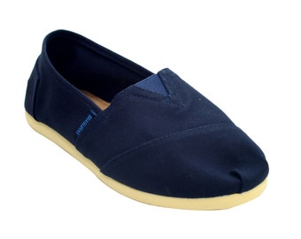 Woman Espadrille Classic Slip On Shoe Canvas Blue
