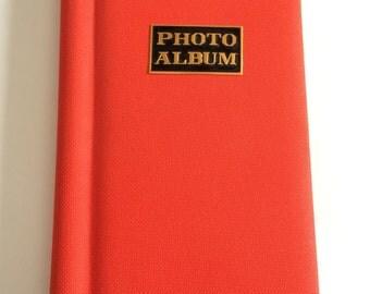 1970s Bright Red Orange Photo Album Book