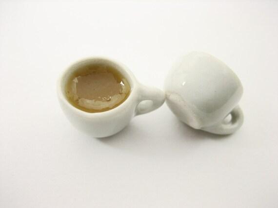 Dollhouse Miniature Food Drink Beverage 9 Ceramic Coffee