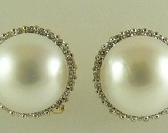 South-Seas-13-5-13-6mm-White-Pearl-Earrings-18k-Yellow-Gold-with-Diamonds-1-10ct