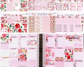 ECV-0138-BK Stickers - All the Blooms! Boho/Shabby Chic - Big Kit - 6 Sheets - Erin Condren, Recollections, Filofax, Happy Planner, MAMBI