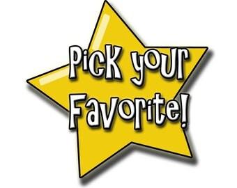 Choose Your Favorite Card!