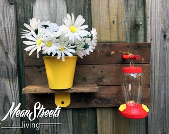 Hummingbird Feeder & Planter