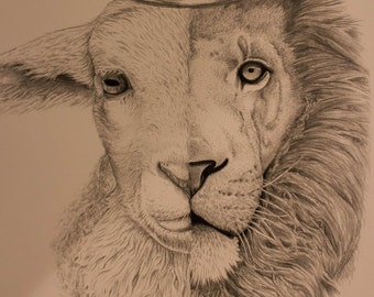 The Lion and the Lamb Print
