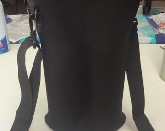 Black 2 bottle oxygen cylinder tote.
