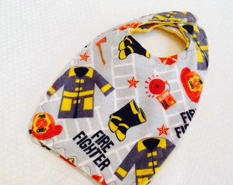 Fire Fighter Baby Bib