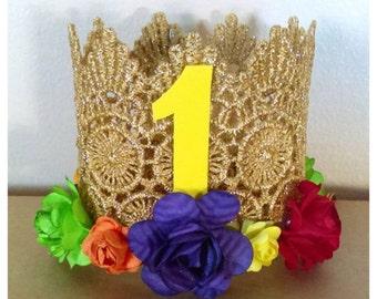 Rainbow Birthday Crown
