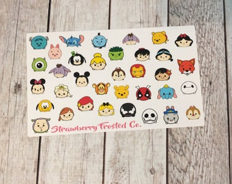 Large Tsum Tsum Inspired Themed Deco Sheet Planner Stickers