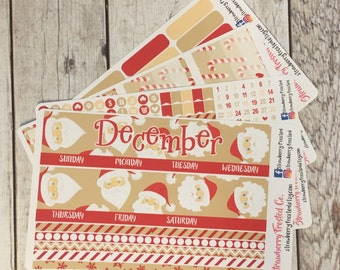 December---- Monthly Planner Kit ---- {Includes 160+ Stickers}