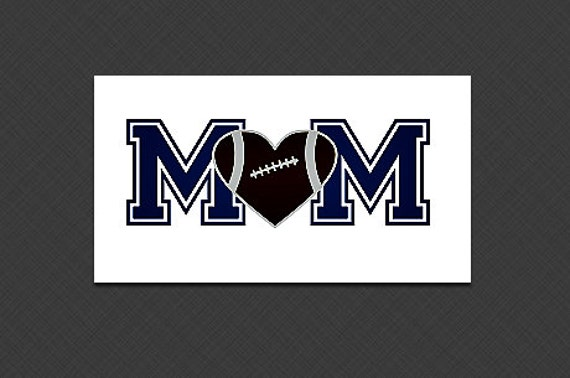 Football Mom SVG File.  For Silhouette or Cricut Machines.  For use with HTV, Oracle 631/651, Paper cutter file