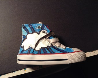 Hand-painted baby or toddler Converse sneakers